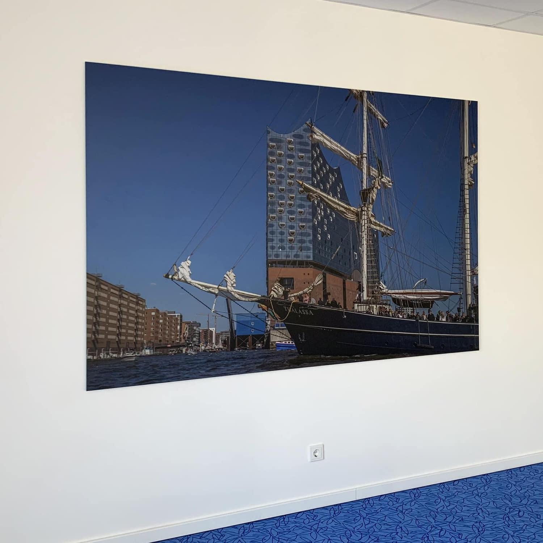 Hamburg Bild Spanntuchbild