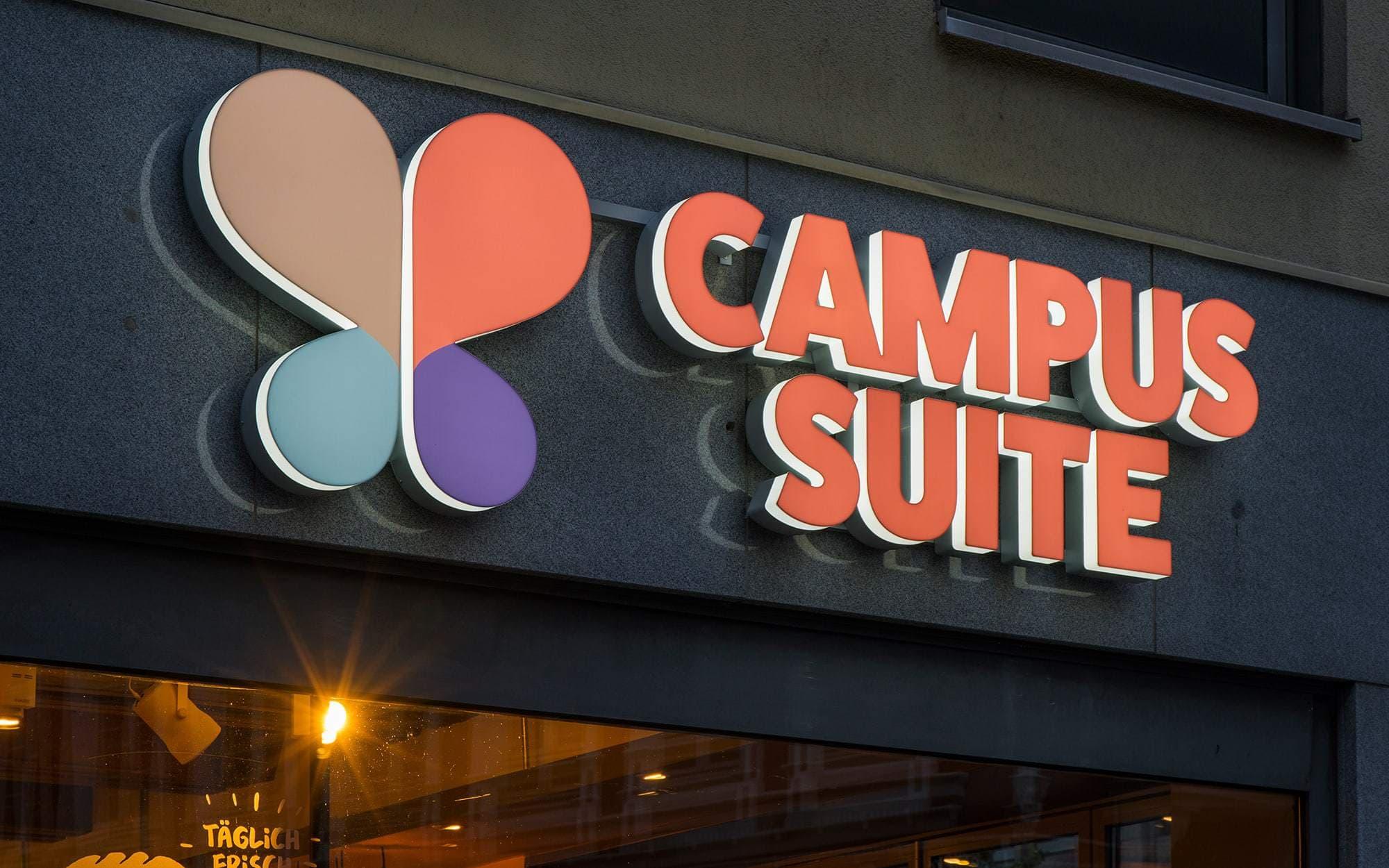 LED Buchstaben von der Firma Campus Suite. Gefertigt für einen Hamburger Niederlassung.