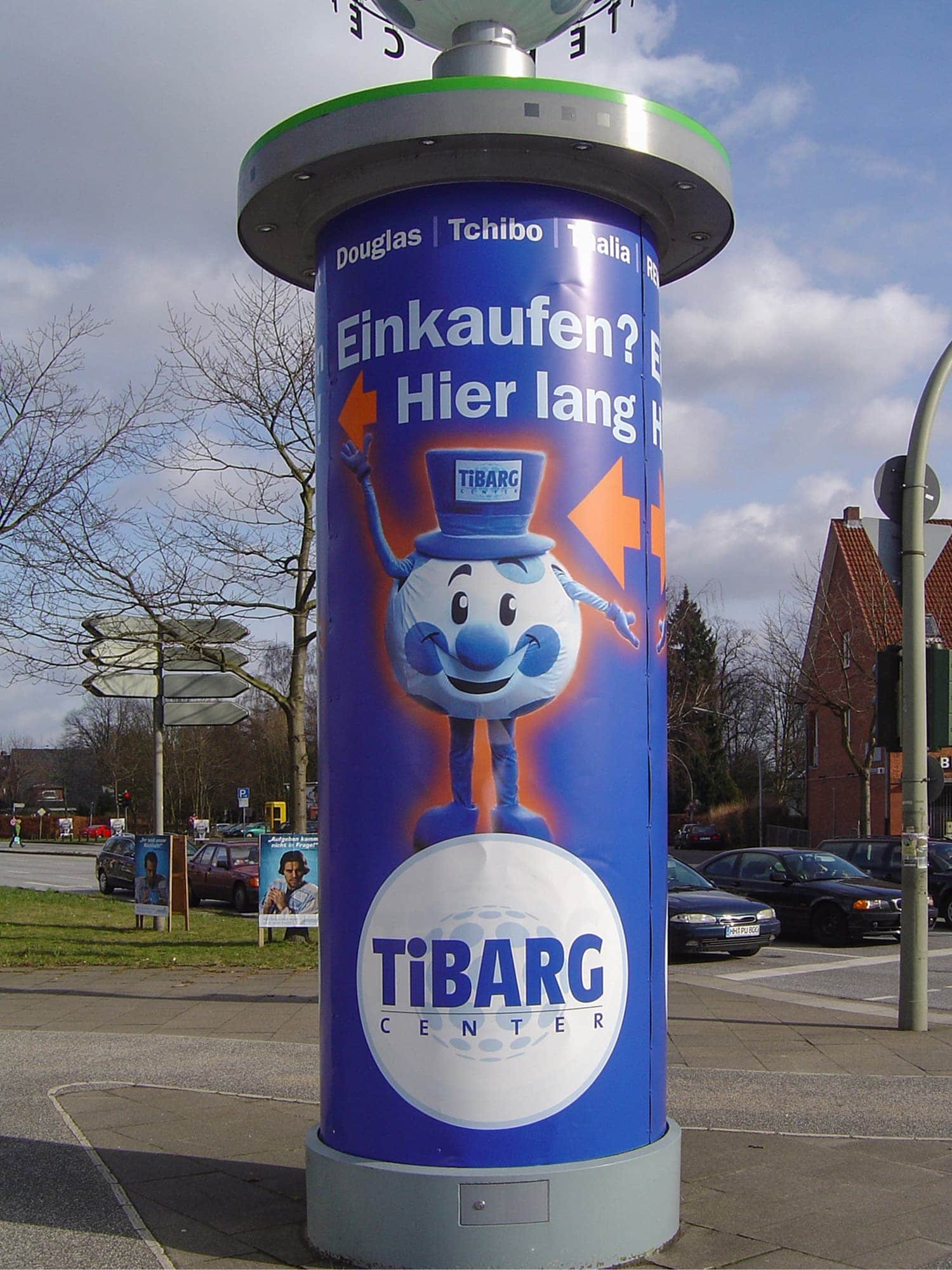 Litfaßsäulenwerbung Digitaldruck auf Affichenpaier für das Hamburger Tibarg Center
